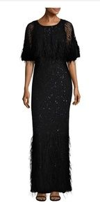 New Parker Lorena feathered dress